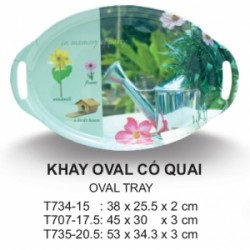 T734-15 Khay Oval 15 inch ( Many Design)